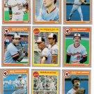 1985 Fleer Baltimore Orioles Team Set-28 Cards