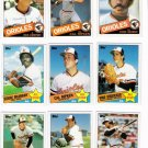 1985 Topps Baltimore Orioles Team Set-31 Cards