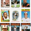 1986 Topps Baltimore Orioles Team Set-32 Cards