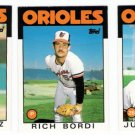 1986 Topps Traded Baltimore Orioles Team Set-3 Cards