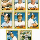 1987 Topps Traded Baltimore Orioles Team Set-8 Cards