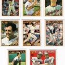 1988 Topps Baltimore Orioles Team Set-28 Cards