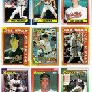 1990 Topps Baltimore Orioles Team Set-33 Cards