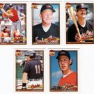 1991 Topps Traded Baltimore Orioles Team Set-5 Cards