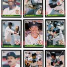 1985 Donruss Boston Red Sox-21 Cards No Clemens