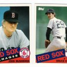 1985 Topps Traded Boston Red Sox Team Set-2 Cards