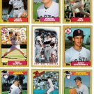 1987 Topps Boston Red Sox Team Set-38 Cards