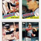 1985 Topps Traded California Angels Team Set-4 Cards