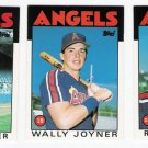 1986 Topps Traded California Angels Team Set-3 Cards