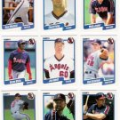 1990 Fleer Regular & Update California Angels-30 Cds