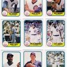 1981 Fleer Chicago Cubs Team Set-25 Cards