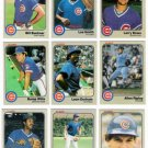 1983 Fleer Chicago Cubs Team Set-22 Cards (No Sandberg)
