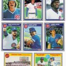 1985 Fleer Chicago Cubs Team Set-25 Cards