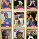 1987 Topps Chicago Cubs Team Set-28 Cards