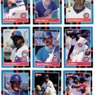 1988 Donruss Chicago Cubs Team Set-26 Cards