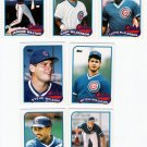 1989 Topps Traded Chicago Cubs Team-7 Cards
