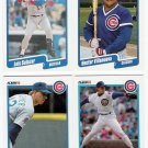 1990 Fleer Update Chicago Cubs-4 Cards