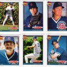 1991 Topps Traded Chicago Cubs Team Set-6 Cards