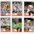 1983 Topps Traded Chicago White Sox Team Set-6 Cards