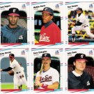 1988 Fleer Update Chicago White Sox Team Set-6 Cards