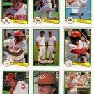 1982 Donruss Cincinnati Reds Team Set-23 Cards