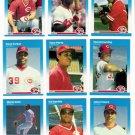 1987 Fleer Cincinnati Reds Team Set-26 Cards