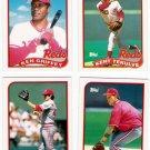 1989 Topps Traded Cincinnati Reds Team-4 Cards