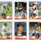 1983 Topps Traded Cleveland Indians Team Set-9 Cards