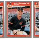 1985 Fleer Update Cleveland Indians Team Set-3 Cards