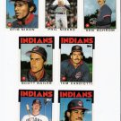 1986 Topps Traded Cleveland Indians Team Set-7 Cards