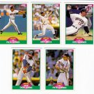 1989 Score Update Cleveland Indians Team-5 Cards