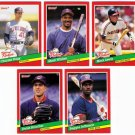 1991 Donruss The Rookies Cleveland Indians-5 Cards