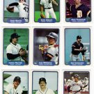 1982 Fleer Detroit Tigers Team Set-24 Cards