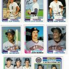 1982 Topps Detroit Tigers Team Set-30 Cards