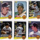 1983 Donruss Detroit Tigers Team Set-25 Cards
