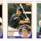 1983 Topps Traded Detroit Tigers Team Set-3 Cards