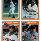 1985 Fleer Update Detroit Tigers Team Set-4 Cards