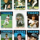 1986 Topps Detroit Tigers Team Set-29 Cards