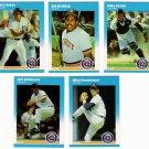 1987 Fleer Update Detroit Tigers Team-5 Cards