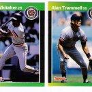 1989 Donruss Detroit Tigers Team Set-24 Cards