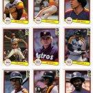 1982 Donruss Houston Astros Team Set-23 Cards