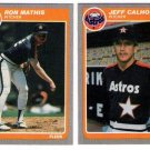 1985 Fleer Update Houston Astros Team Set-2 Cards