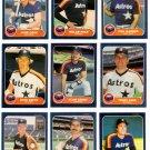 1986 Fleer Houston Astros Team Set-23 Cards