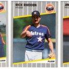 1989 Fleer Update Houston Astros Team-3 Cards