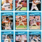 1990 Donruss Best of N.L. Houston Astros-12 Cards