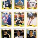 1990 Fleer Regular & Update Houston Astros-25 Cds