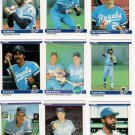 1984 Fleer Kansas City Royals Team Set-26 Cards