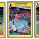 1985 Fleer Update Kansas City Royals Team Set-3 Cards