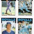 1986 Topps Traded Kansas City Royals Team Set-4 Cards