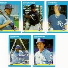 1987 Fleer Update Kansas City Royals Team-5 Cards